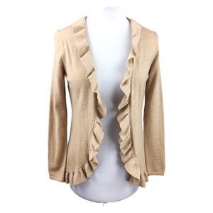 Brooks Brothers Sz S merino wool ruffle cardigan